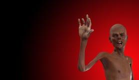 Zombie mit den falschen Zähnen Lizenzfreie Stockbilder