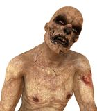 Zombie Monster 3D Illustration. Isolated On White Royalty Free Stock Photos
