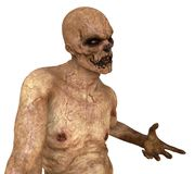 Zombie Monster 3D Illustration. Isolated On White Stock Photo