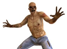 Zombie Monster 3D Illustration Stock Photo