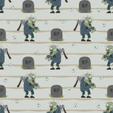 Zombie naadloos patroon Royalty-vrije Stock Afbeeldingen