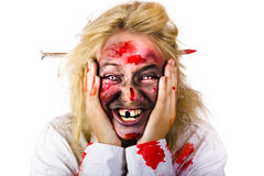 Zombie with nail through head Royalty Free Stock Images