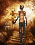 Zombie nel cimitero Immagine Stock Libera da Diritti