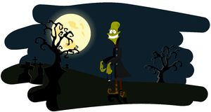 The zombie on a night background Stock Images