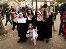 Zombie nuns at Lucca Comics and Games 2017 Royalty Free Stock Image