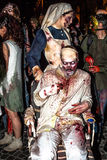 Zombie nurse with wheelchair Royalty Free Stock Photo
