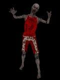 Zombie op zwarte Stock Foto