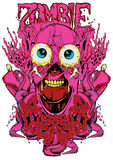 Zombie organs. Vector illustration ideal for printing on apparel clothing stock illustration