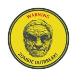 Zombie Outbreak. Hand drawn. Vector Eps8 Royalty Free Stock Photos