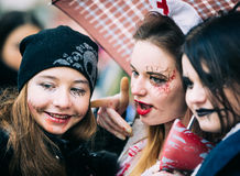 Zombie parade in the streets of Kiev Stock Images