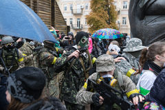 Zombie parade in the streets of Kiev Stock Photos