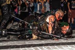 Zombie parade walk Stock Images