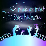 Zombie Party, Halloween, bright neon Royalty Free Stock Image