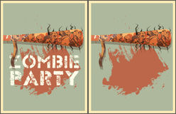 Zombie party illustration Stock Image