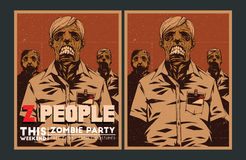 Free Zombie Party Invitation. Royalty Free Stock Photography - 45617387