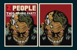 Free Zombie Party Invitation. Royalty Free Stock Photography - 49587507