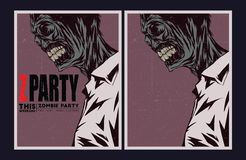 Zombie party invitation. Royalty Free Stock Photo