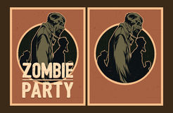 Zombie party invitation. Stock Photo