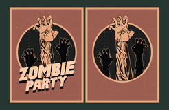 Zombie party invitation. Royalty Free Stock Images