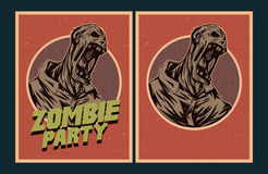 Zombie party invitation. Stock Photography