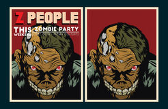 Zombie party invitation. Royalty Free Stock Photography
