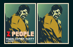 Zombie party invitation. Stock Photos