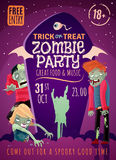 Zombie Party Poster Stock Photography