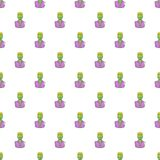 Zombie pattern, cartoon style Stock Image