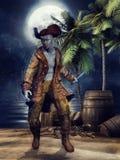 Zombie pirate Stock Image