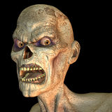 Zombie portrait. 3d rendering a Zombie of portrait as illustration Royalty Free Stock Image