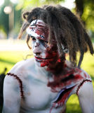 Zombie portrait closeup. Creative background Stock Photo