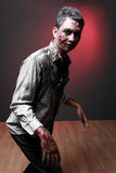 Zombie. Portrait of a Zombie walking looking camera Stock Photos