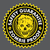 Zombie Proof, Safety Guarantee Seal vector illustration