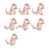 Zombie Rat Jumping Sprite Stock Image