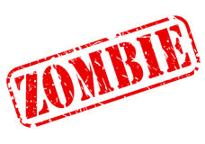Zombie red stamp text Royalty Free Stock Photography