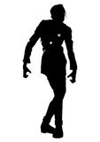 Zombie riddled silhouette. Illustration zombie man mutilated with bullet holes Stock Photo