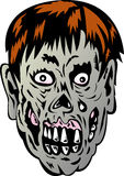 Zombie with rotting face Royalty Free Stock Photos