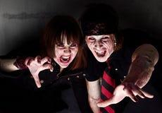 Zombie sanguinanti Immagine Stock Libera da Diritti