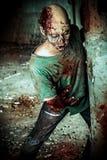 Zombie sanguinoso fotografia stock libera da diritti