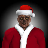 Zombie Santa. Zombie dressed up as Santa Claus Royalty Free Stock Images