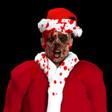 Zombie Santa. Zombie dressed up as Santa Claus Royalty Free Stock Photography