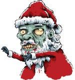 Zombie Santa Arkivbild