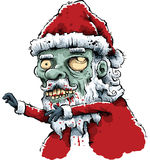 Zombie Santa Fotografia Stock