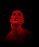 Zombie Scream. Male Zombie that is screaming Royalty Free Stock Photo
