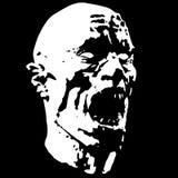 Zombie screams head. Vector illustration  Royalty Free Stock Photo