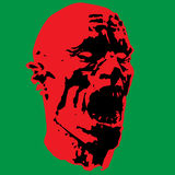 Zombie screams head. Vector illustration Stock Images