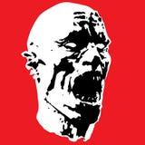 Zombie screams head. Vector illustration  Royalty Free Stock Image