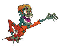 Zombie Screamy Halloween vektor abbildung