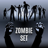 Zombie set Stock Image