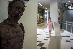 Zombie In the Shopping Mall Royalty Free Stock Photography